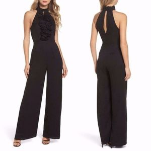 C/MEO COLLECTIVE Black BIG PICTURE Ruffle JUMPSUIT